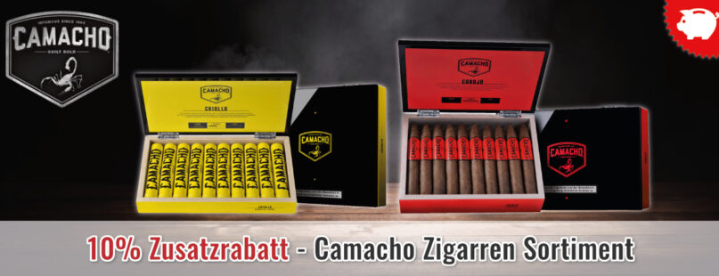 10% Zusatzrabatt - Camacho Zigarren Sortiment